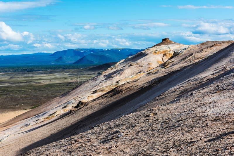 Geotermiczny teren Hverir w Iceland zdjęcia stock