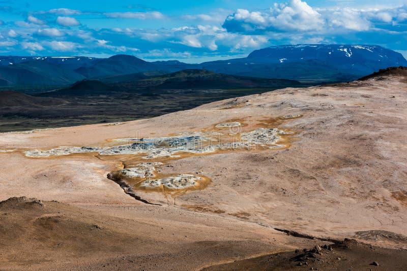 Geotermiczny teren Hverir w Iceland obraz royalty free