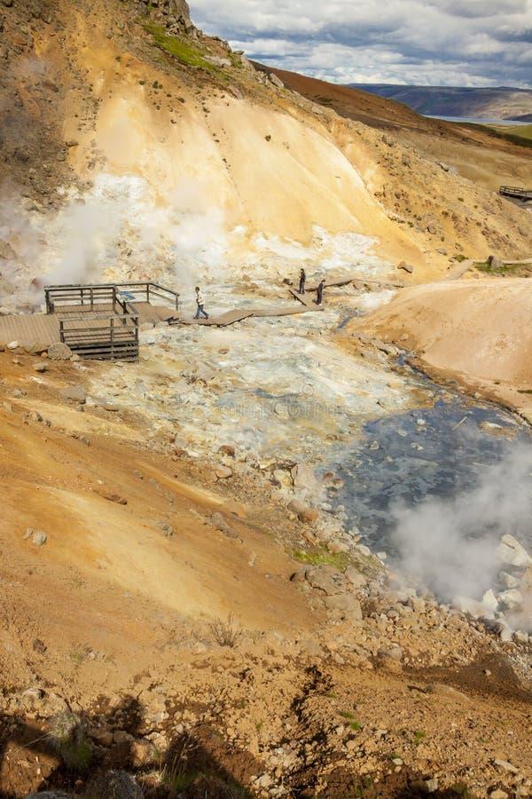 Geotermiczny teren - Iceland. obraz royalty free