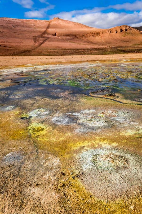 Geotermiczny teren, Iceland zdjęcia royalty free