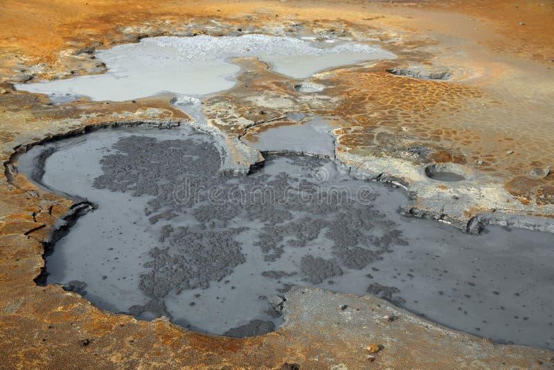 Geotermiczny teren Krysuvik i Seltun fotografia royalty free