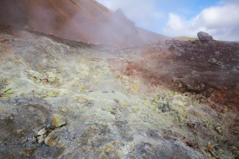 Geotermiczny teren Landmannalaugar zdjęcia royalty free