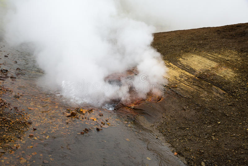 Geotermiczny teren Landmannalaugar zdjęcie royalty free