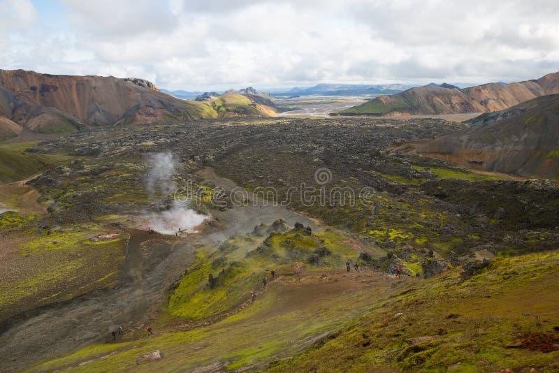 Geotermiczny teren Landmannalaugar zdjęcia stock