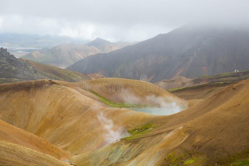 Geotermiczny teren Landmannalaugar zdjęcie stock