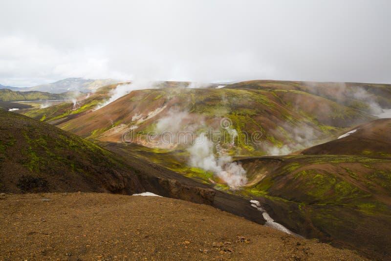 Geotermiczny teren Landmannalaugar obraz royalty free