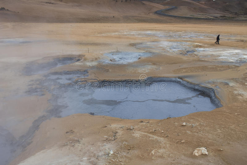 Geotermiczny teren przy Hverir w Iceland zdjęcia stock