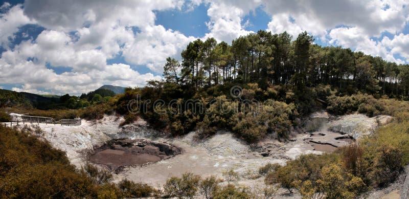 geotermiczny Wai-o-Tapu teren fotografia stock