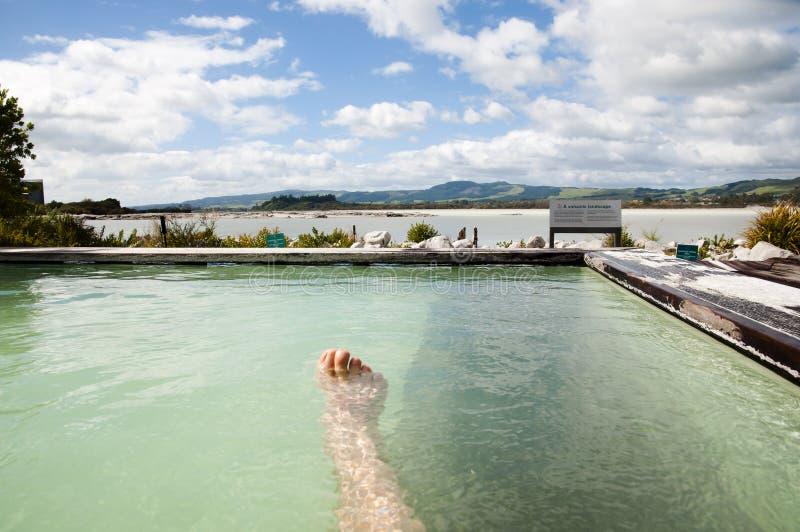 Geotermiczny zdrój - Nowa Zelandia obrazy stock