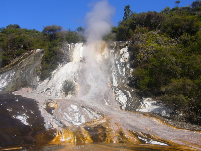 geotermisk aktivitet arkivbild