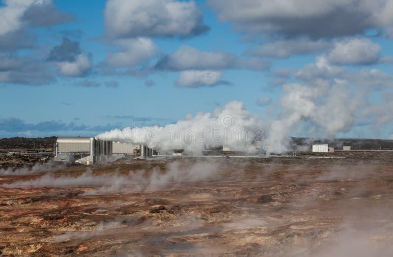 Geotermisk kraftverk arkivbild