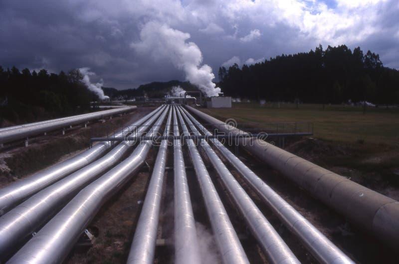 geotermisk nzväxtström royaltyfri fotografi