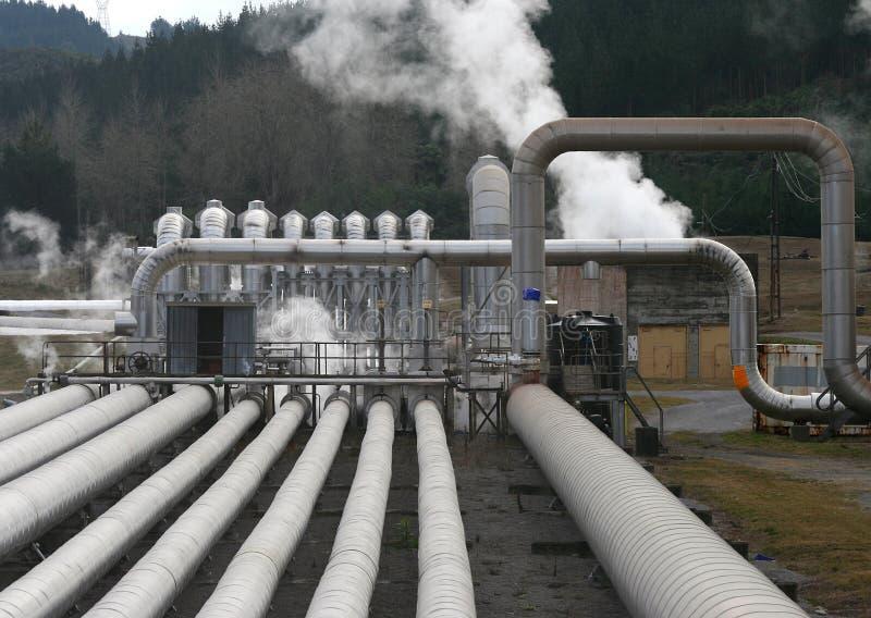 geotermisk växt royaltyfri bild