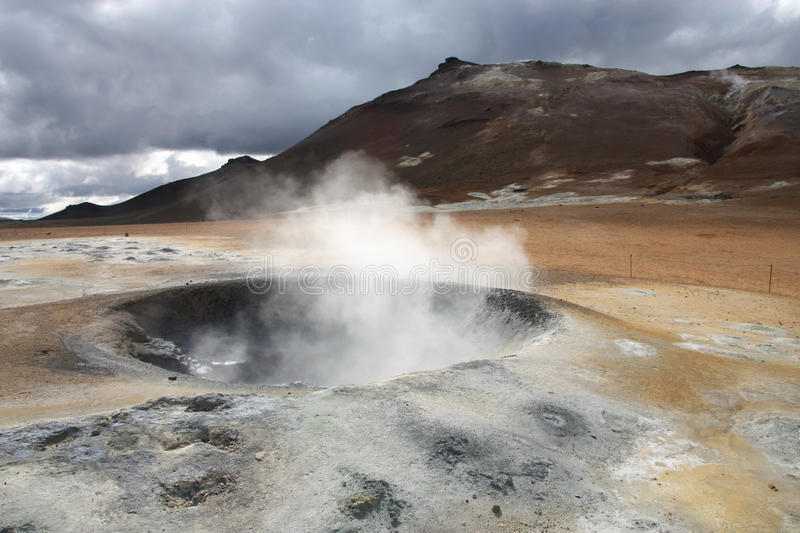 Geothermal activity stock photography