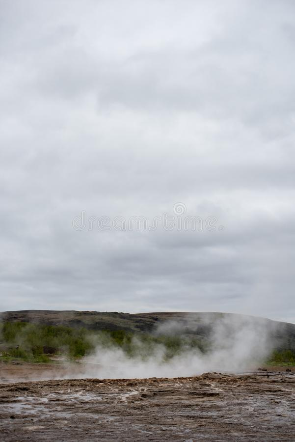 Geothermal activity in Hveragerdi, Iceland with hot springs royalty free stock photos