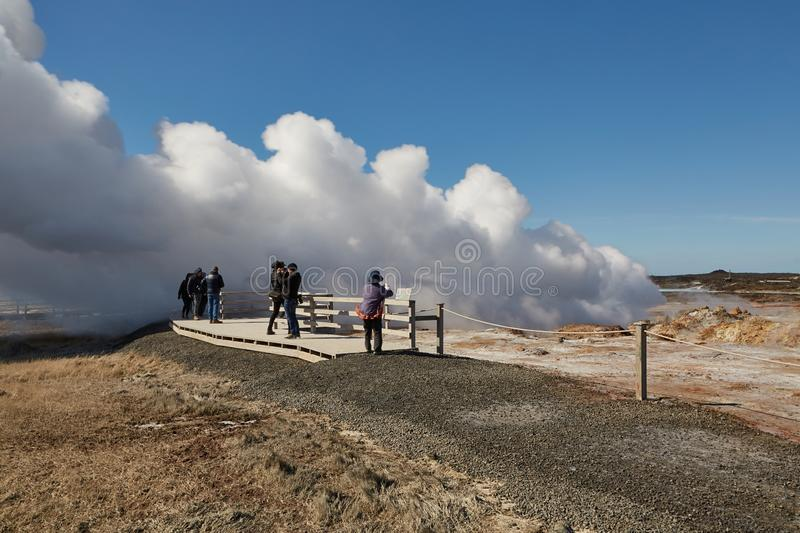 Geothermal Activity in Iceland stock images
