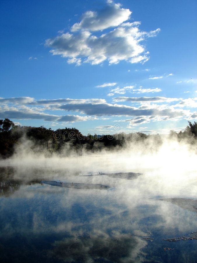 Geothermal activity, Rotorua, New Zealand. Geothermal activity in Kuirau Park, Rotorua, New Zealand stock image