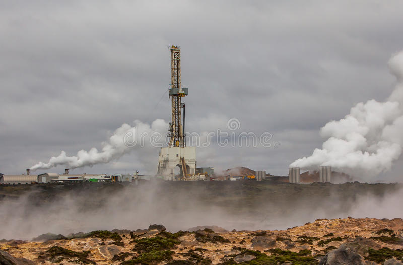 Geothermal area, Iceland. royalty free stock images