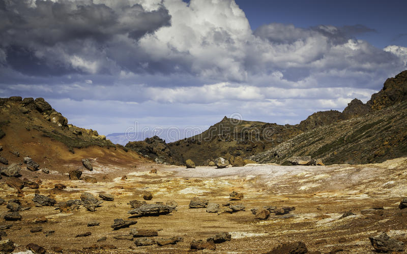 Geothermal Area. Image from the geothermal area located at Reykjanes peninsula in Iceland stock photography