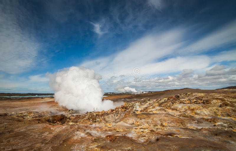 Geothermal Area. Image from the geothermal area located at Reykjanes peninsula in Iceland royalty free stock photos