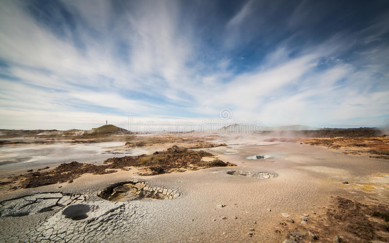 Geothermal Area. Image from the geothermal area located at Reykjanes peninsula in Iceland stock photos