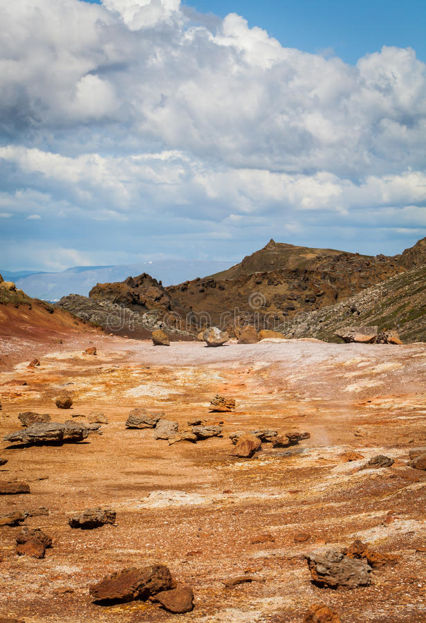 Geothermal Area. Image from the geothermal area located at Reykjanes peninsula in Iceland stock images
