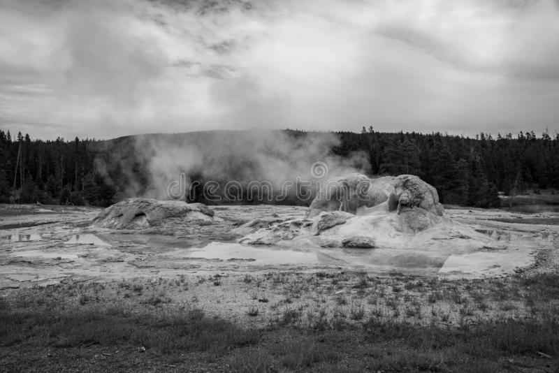 Geothermal feature at old faithful area at Yellowstone National Park (USA stock images