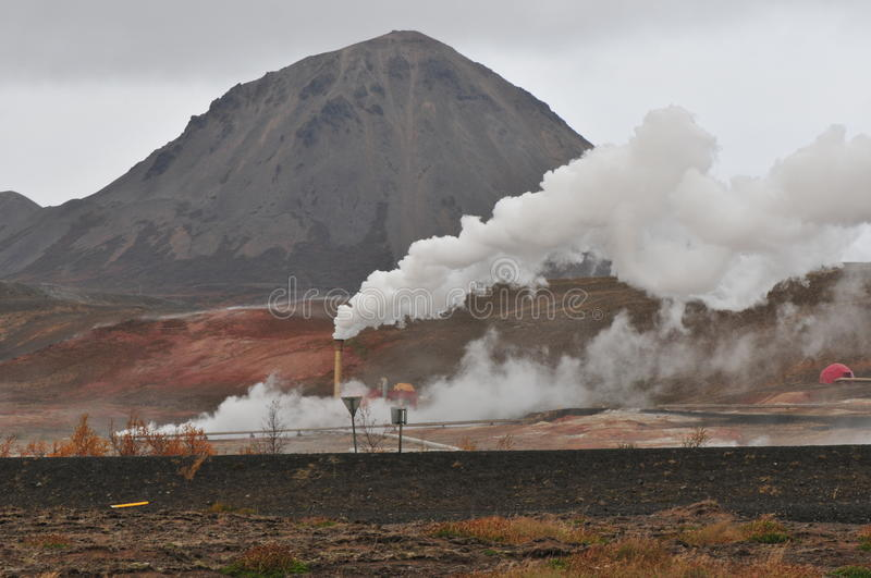 Geothermal. Heat steam in Iceland royalty free stock photo