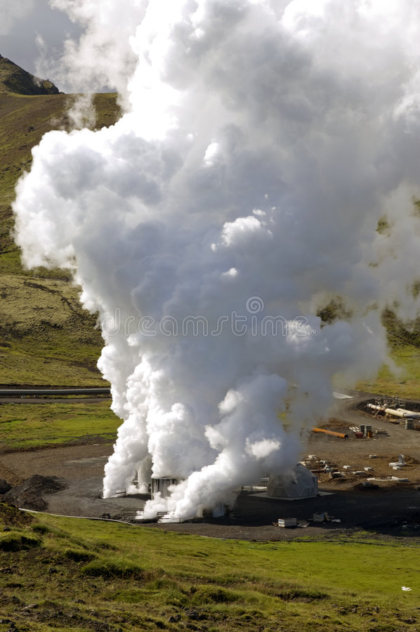 Geothermal Hot Water Well Stock Photography
