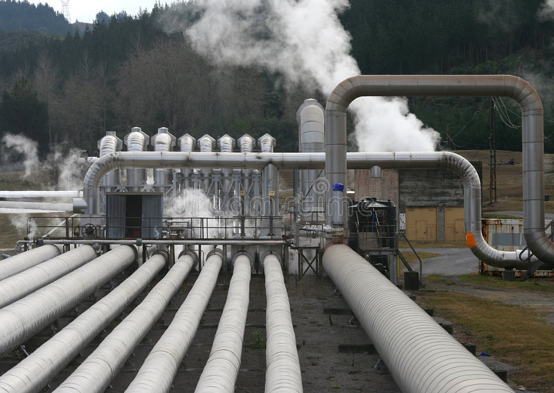 Geothermal Plant royalty free stock image