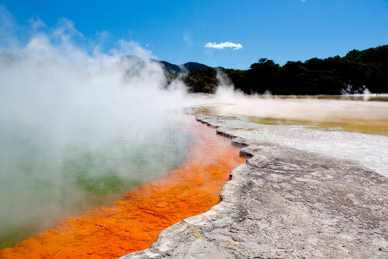 Geothermal pool. Near Rotorua, North Island, New Zealand stock photo