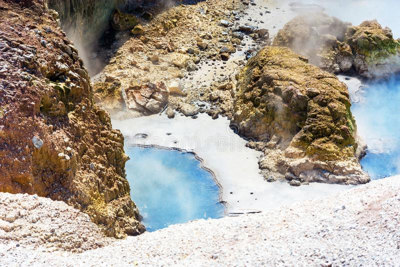 Geothermal pool in Wai-O-Tapu park, Rotorua, New Zealand royalty free stock photography