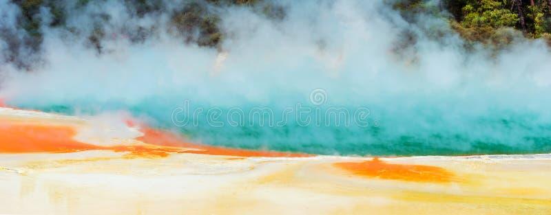 Geothermal pools in Wai-O-Tapu park, Rotorua, New Zealand royalty free stock image