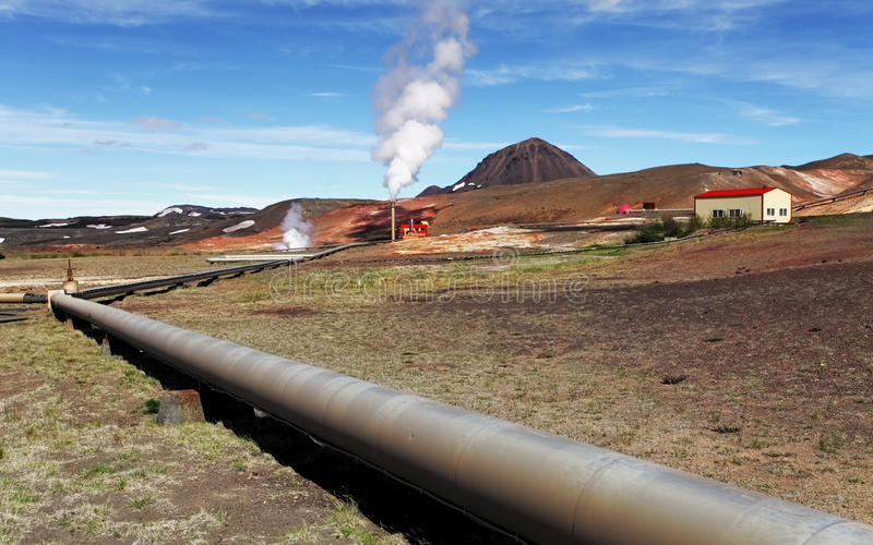 Geothermal power energy station. Iceland stock images