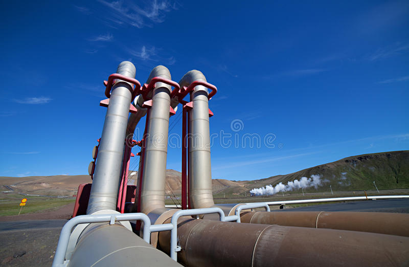 Geothermal Power. Iceland's geothermal power plant station in the Krafla volcanic region royalty free stock photo