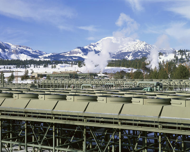 Geothermal power project royalty free stock photo