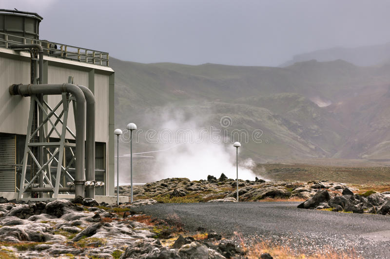 Geothermal Power Station In Iceland Stock Images
