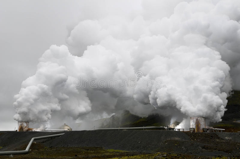 Geothermal power stationear Reykjavik, Iceland stock image