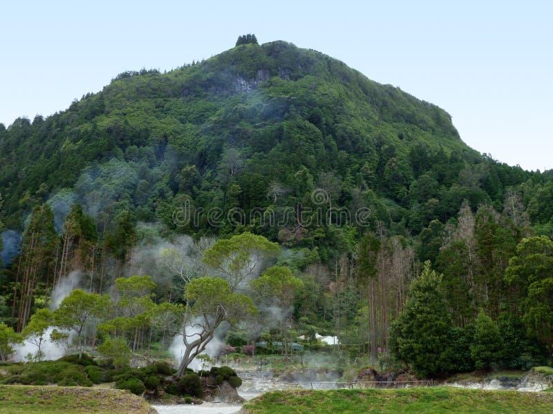 Geothermic Tätigkeit bei den Azoren lizenzfreies stockfoto