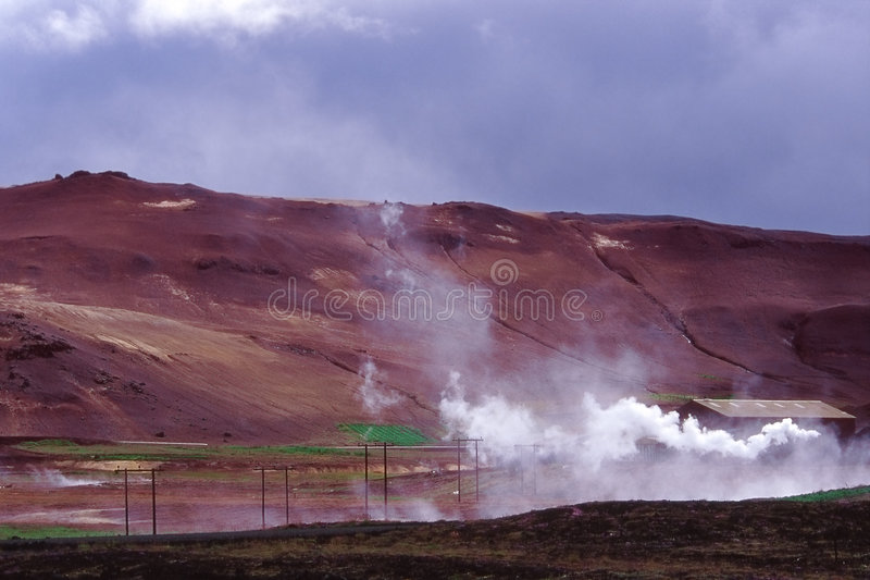 Geothermic Anlage stockbild