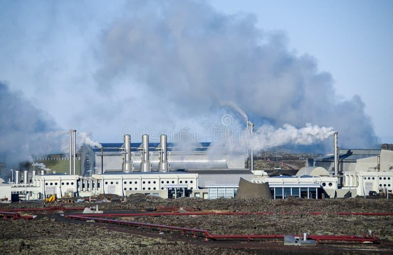 Geothermie-Station auf Reykjanes-Halbinsel, Island lizenzfreie stockfotografie