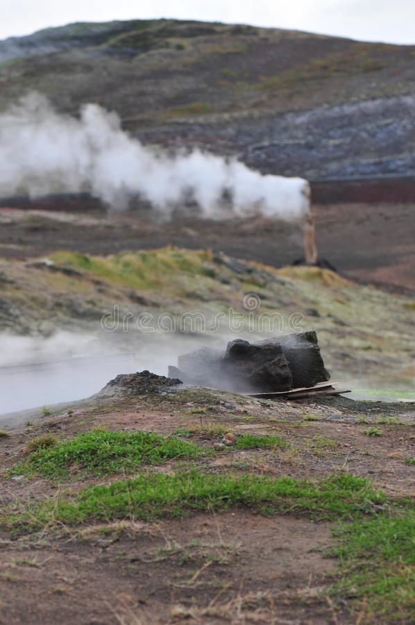 geothermisch stock foto