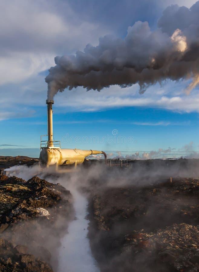 Geothermisch boorgat royalty-vrije stock fotografie