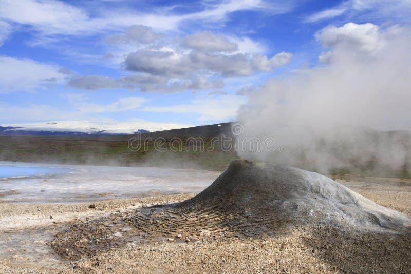 Geothermisch gebied Hveravellir stock foto's