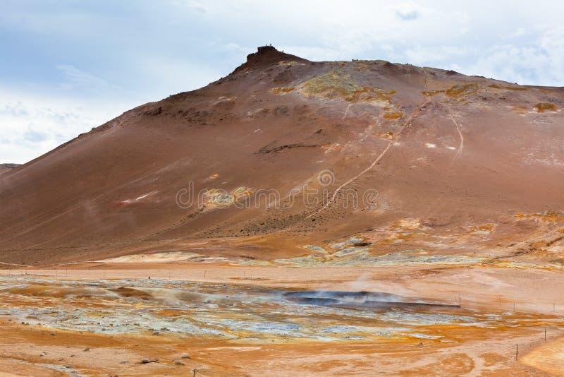 Geothermisch Gebied Hverir, IJsland royalty-vrije stock foto's