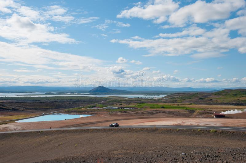 Geothermisch gebied in IJsland royalty-vrije stock foto