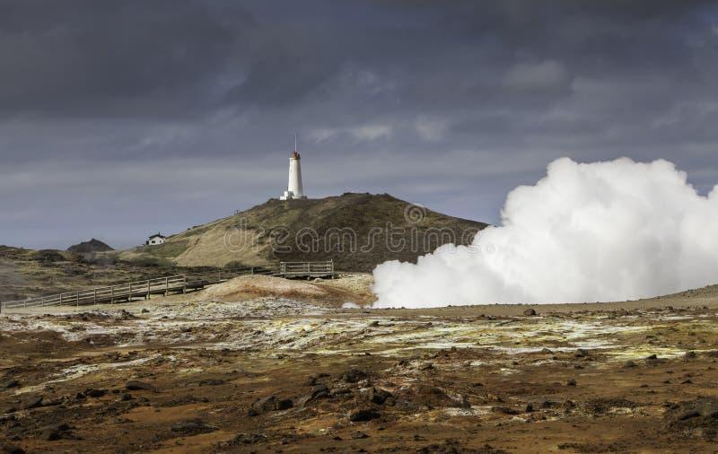 Geothermisch gebied in IJsland royalty-vrije stock afbeeldingen