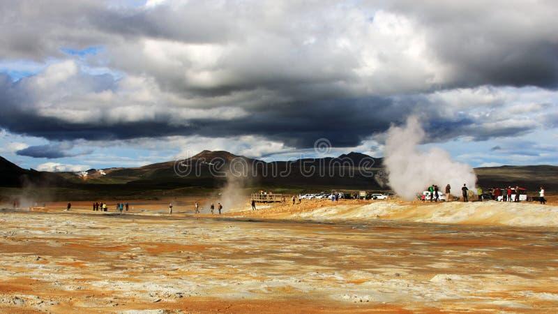 Geothermisch gebied in Noordelijk IJsland royalty-vrije stock afbeeldingen