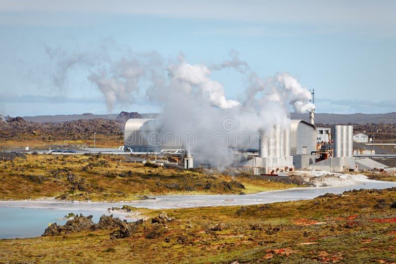 Geothermisch gebied van Gunnuhver, IJsland royalty-vrije stock fotografie