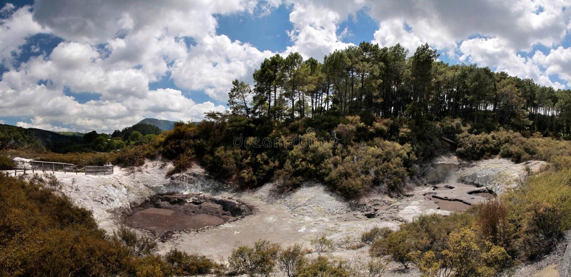 Geothermisch gebied wai-o-Tapu stock fotografie